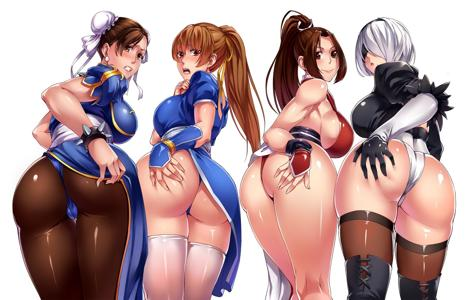 Thicc Butt Ladies of Street Fighter