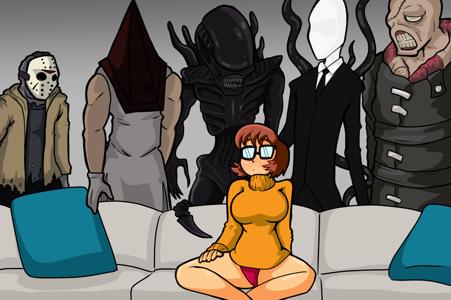 Jinkies! ft. Velma, Jason Voorhees, Pyramid Head, a Xenomorph, Slenderman, Nemesis