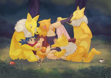 (Pokemon) Kris and Hypno Horde Battle