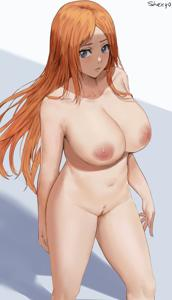 Orihime Inoue showing off her sexy body