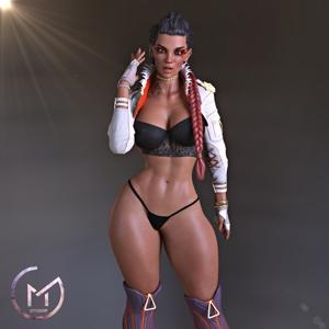 Loba Undressing after Battle