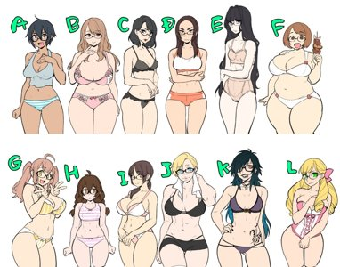 Types of girls by Agawa Ryo