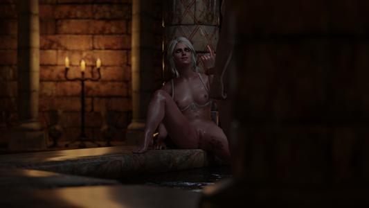 Ciri in the bathhouse