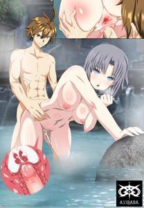 Naoto giving Yumi some anal at a hot springs