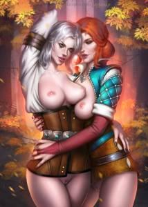 Ciri and Triss - -