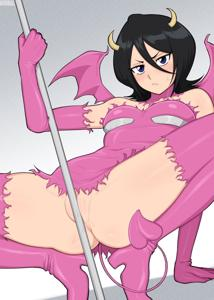 Rukia in a succubus outfit